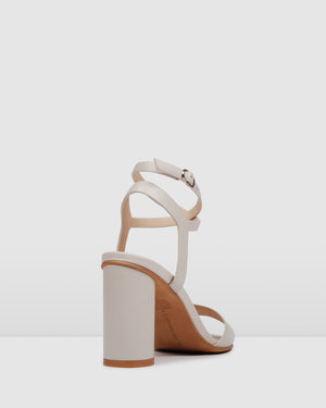 UMBERTO HIGH HEEL SANDALS BONE LEATHER