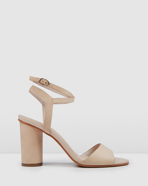 UMBERTO HIGH HEEL SANDALS LIGHT BEIGE LEATHER