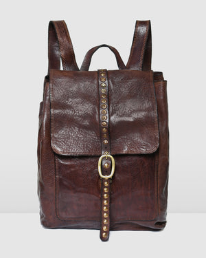 CAMPOMAGGI UPALA BACKPACK DARK BROWN LEATHER