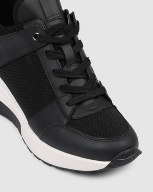 UPROAR SNEAKERS BLACK LEATHER