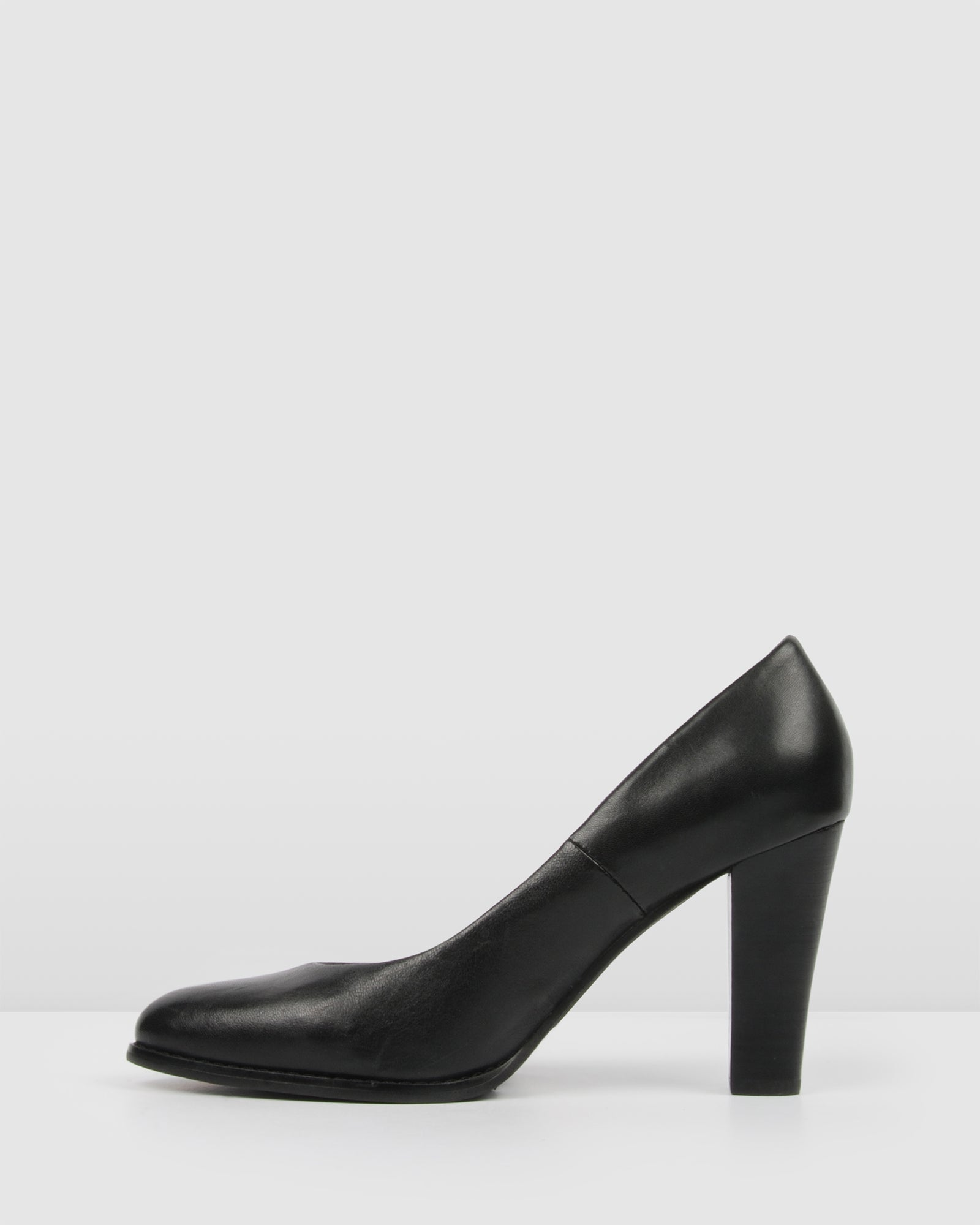 UPTOWN HIGH HEELS BLACK LEATHER