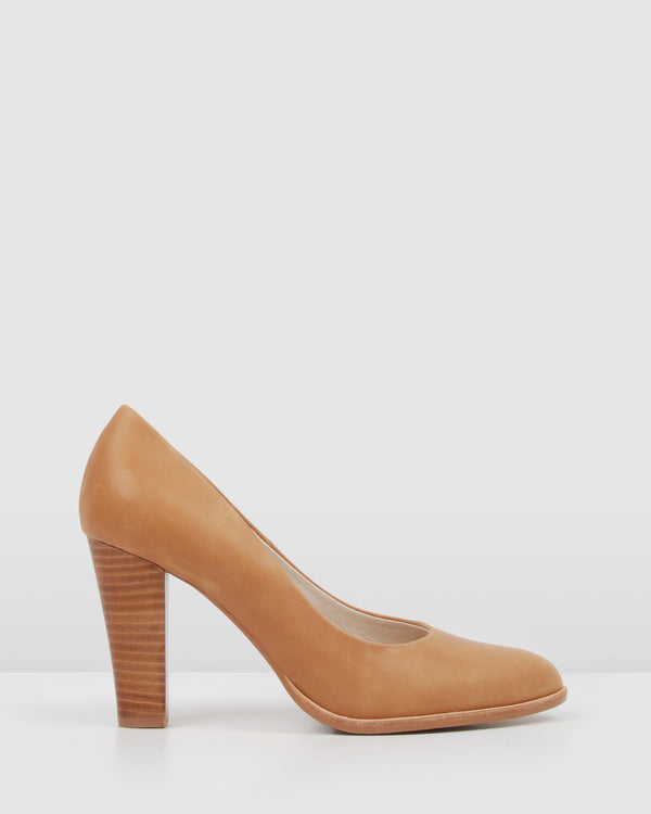 UPTOWN HIGH HEELS CHOCOLATE LEATHER