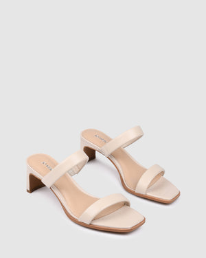 VANISH MID HEEL SANDALS BONE CROC