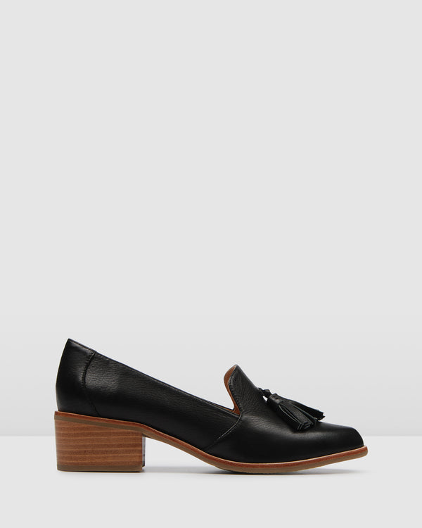 VESPER LOW HEELS BLACK LEATHER