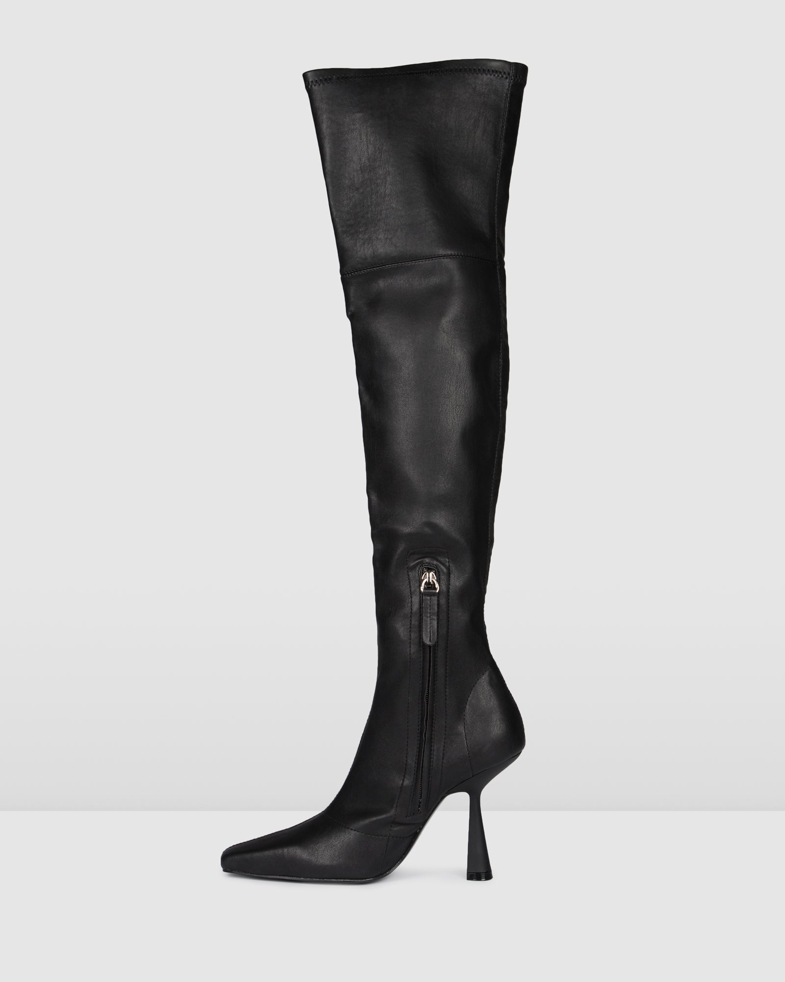 VICEROY OVER THE KNEE BOOT BLACK