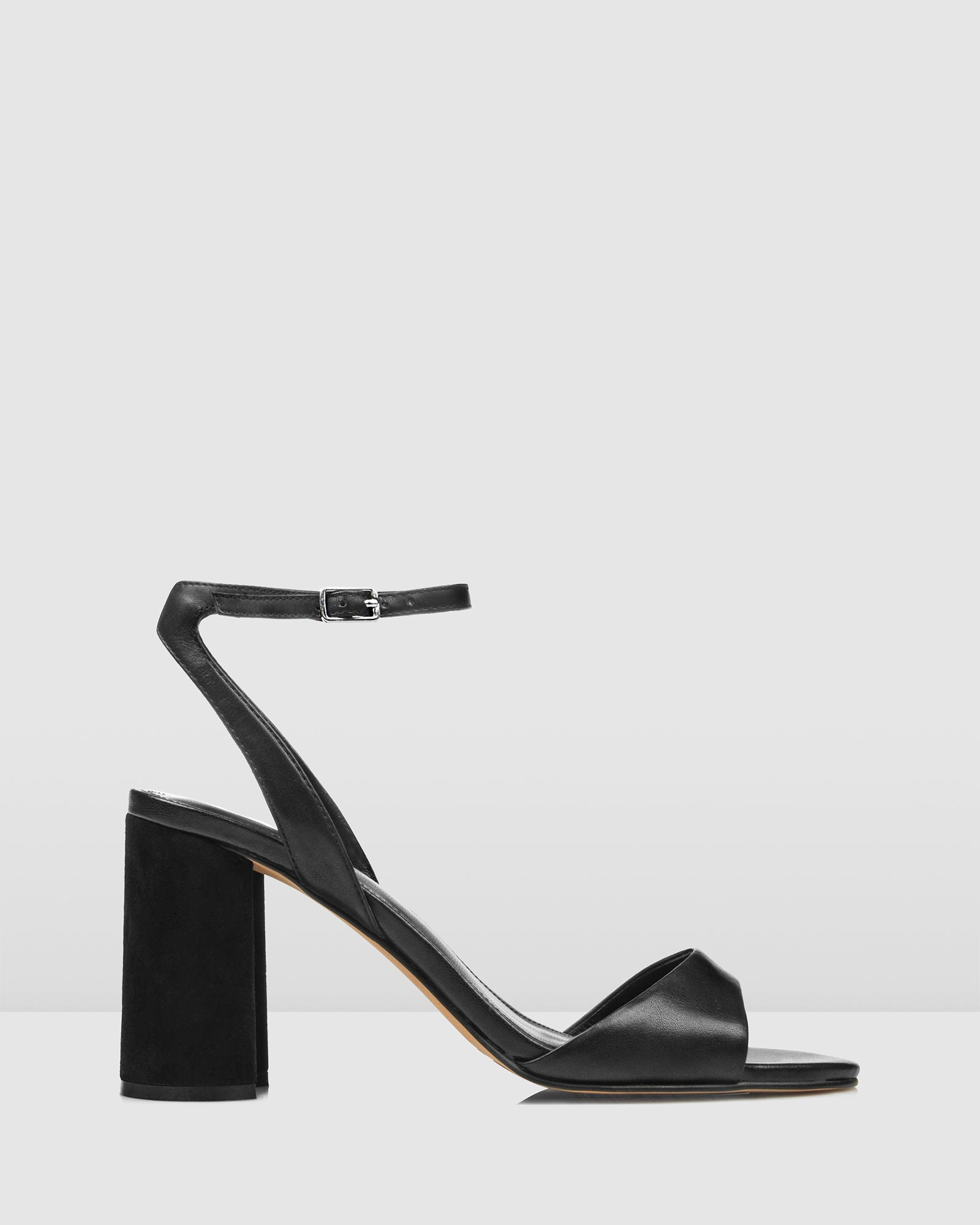 VINCENZA HIGH HEEL SANDALS BLACK LEATHER