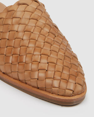 WEAVER CASUAL FLATS TAN LEATHER