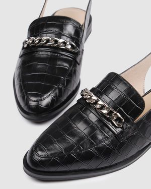 WETHERBY LOAFERS BLACK CROC