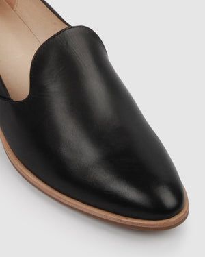 XANDERA LOAFERS BLACK LEATHER