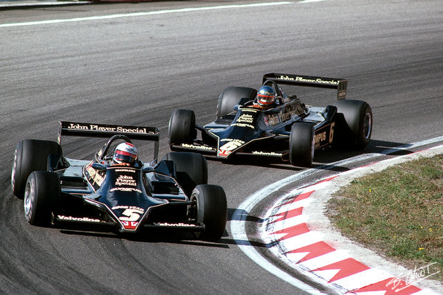 Mario Andretti, Ronnie Peterson 1978 Holland