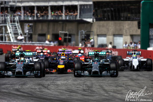 Start, Canadian GP 2014