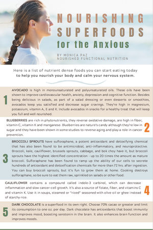 Superfoods for the Anxious