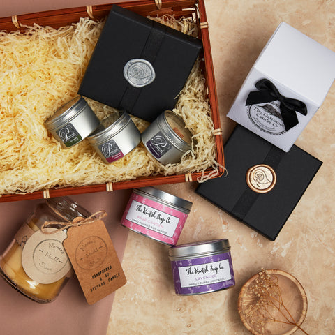 luxury candles hamper