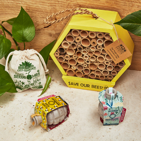 bee garden gift set for grandparents
