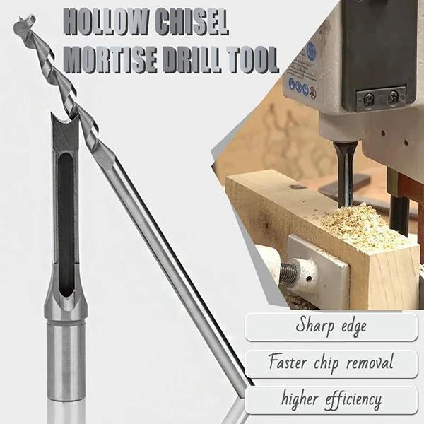 6.4mm Hole Square Drill Mortiser Mortising Bit Hole Drills Tools Working Wood