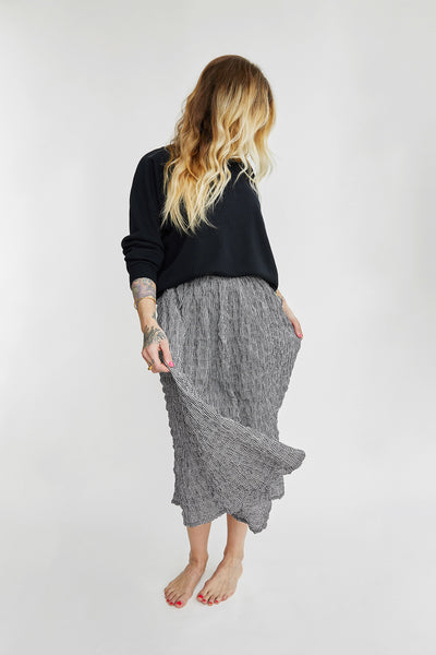 Caron Callahan Rita Skirt in Black Mirco Gingham