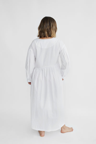 Tigre et Tigre Jayme Dress in White Poplin