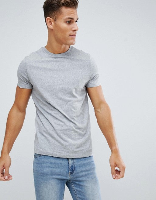 t-shirt with crew neck in grey
