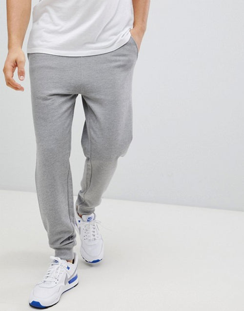FOS DESIGN tapered joggers in grey marl