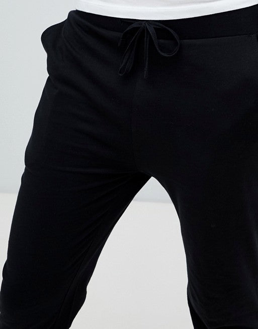 FOS DESIGN skinny lightweight joggers in black
