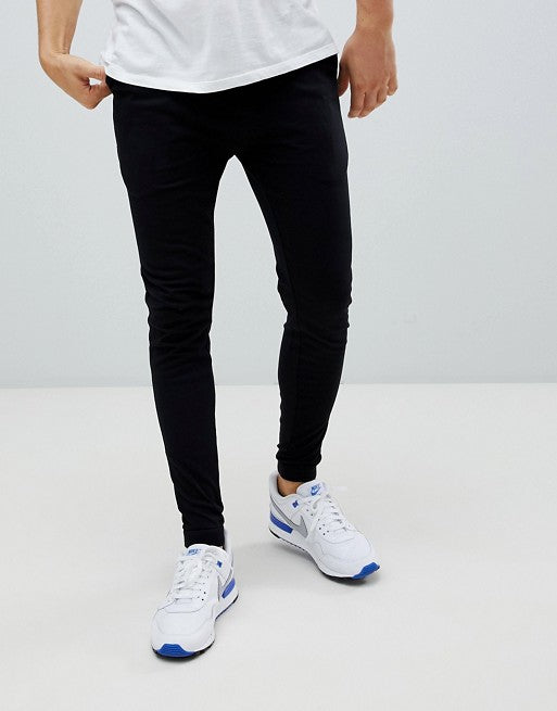 FOS DESIGN super skinny lightweight joggers in black