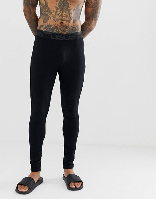 FOS DESIGN meggings in black with branded waistband