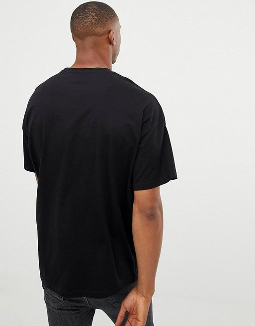 oversized t-shirt with crew neck in black