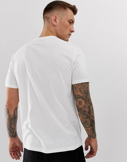 organic t-shirt with crew neck in white