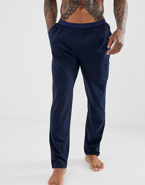 FOS DESIGN pyjama bottoms in navy