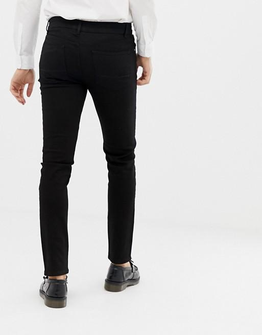FOS DESIGN skinny jeans in black