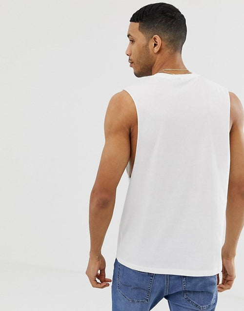 relaxed sleeveless t-shirt with dropped armhole 3 pack multipack saving