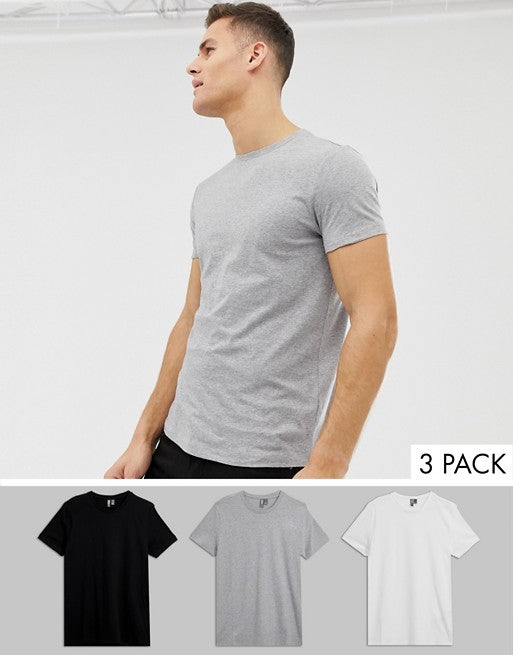 t-shirt with crew neck 3 pack multipack saving