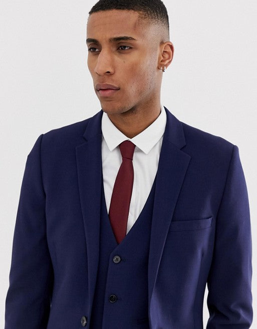 FOS DESIGN super skinny suit jacket in navy