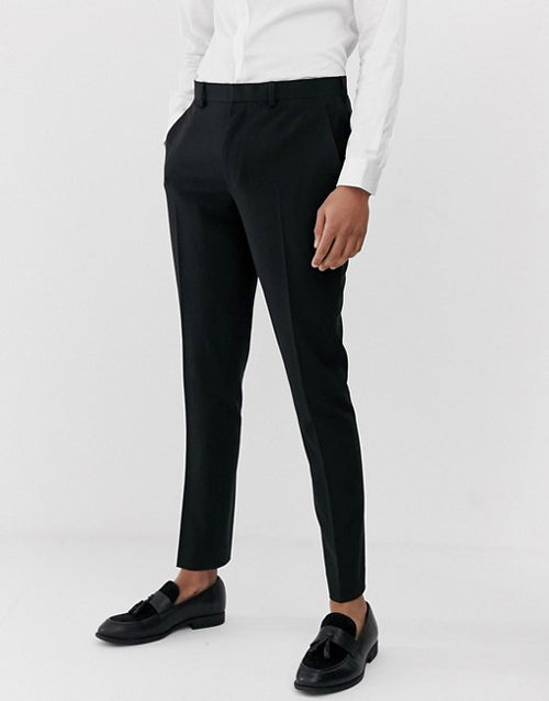 FOS DESIGN super skinny suit trousers in black
