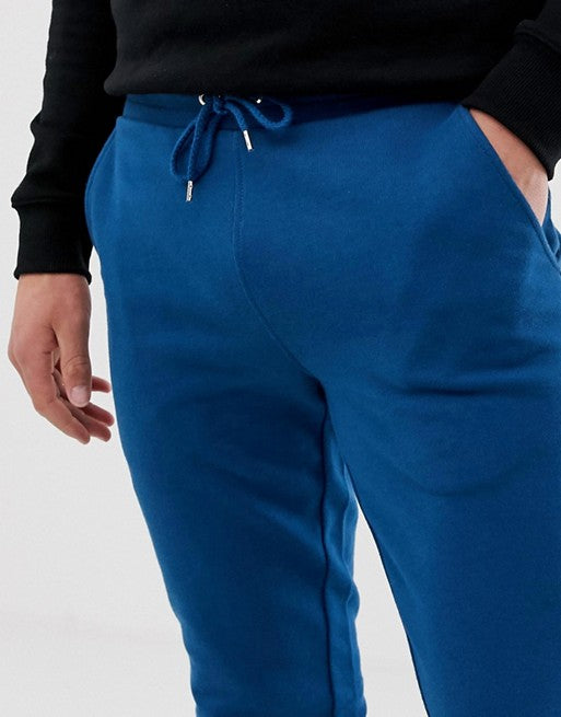 FOS DESIGN skinny joggers in deep blue
