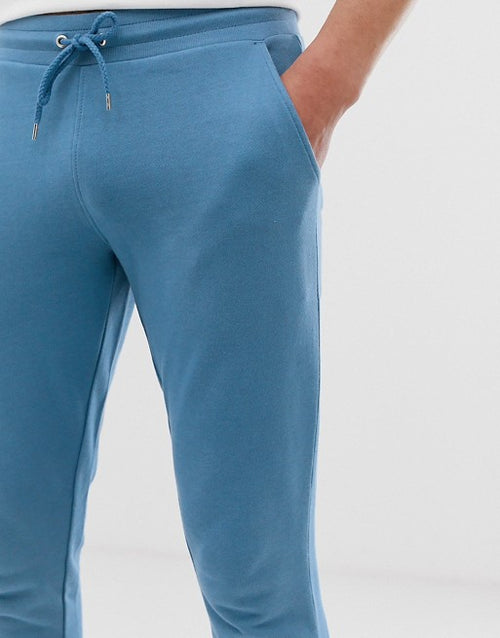 FOS DESIGN skinny joggers in blue