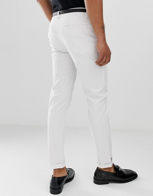 FOS DESIGN skinny chinos in white