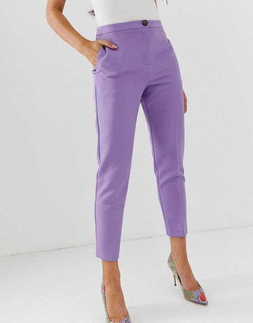 FOS DESIGN pop slim suit trousers