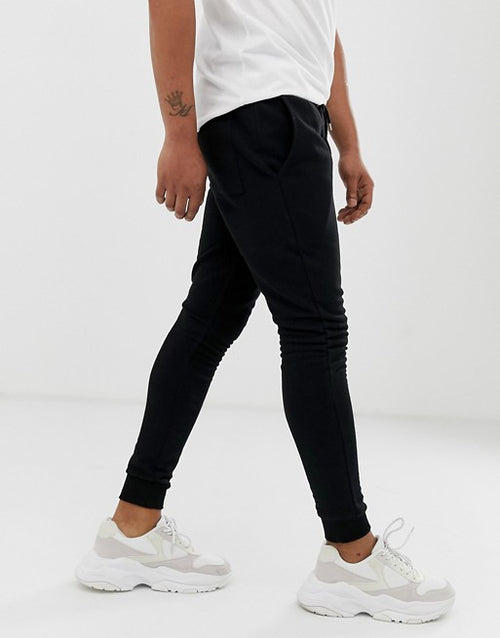 FOS DESIGN super skinny joggers 2 pack black/grey marl