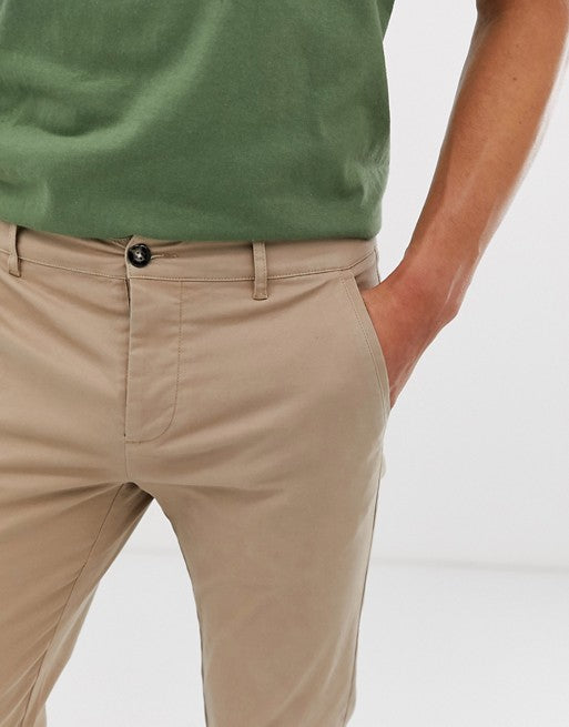 FOSDESIGN slim chinos in stone