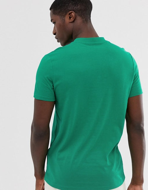 organic t-shirt with crew neck in green