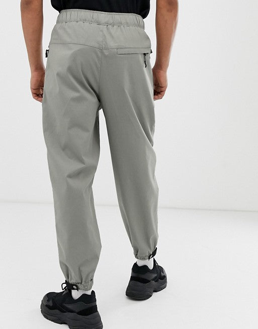 FOS DESIGN tapered utility trousers in grey