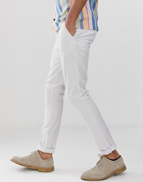 FOS DESIGN Tall skinny chinos in white