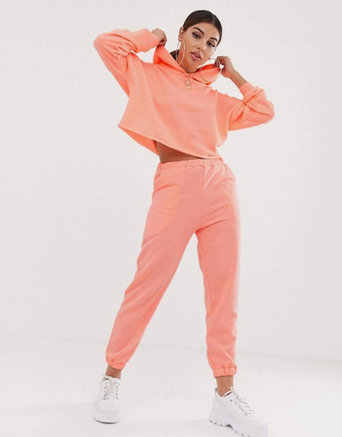 FOS DESIGN co-ord oversized neon jogger