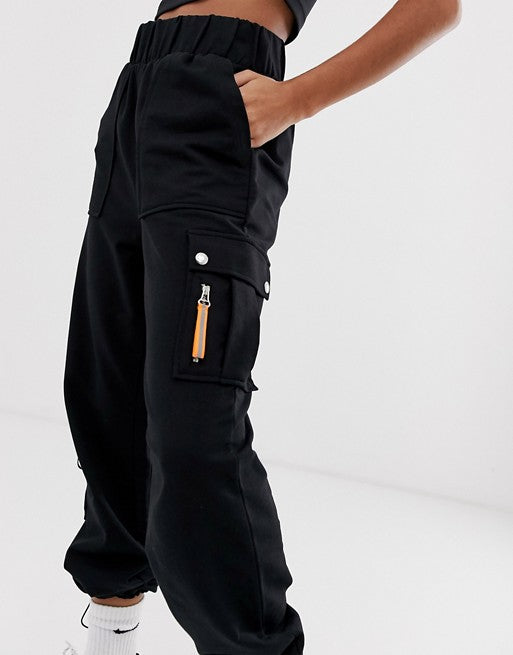 FOS DESIGN co-ord jogger with bungee detail