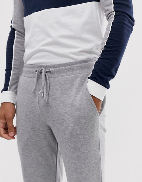 FOS DESIGN skinny joggers in grey marl