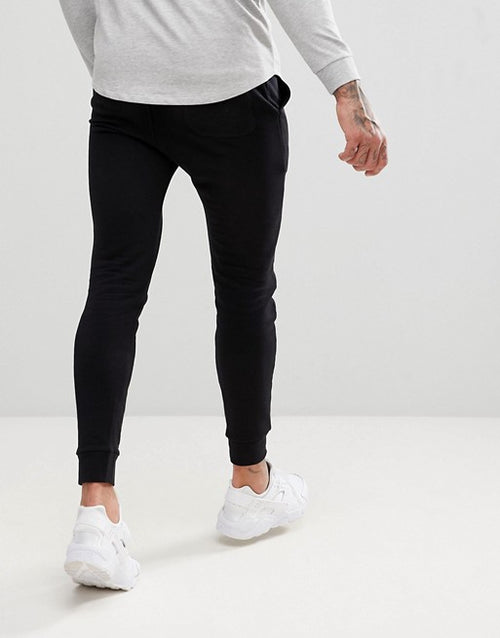 FOS DESIGN super skinny joggers in black