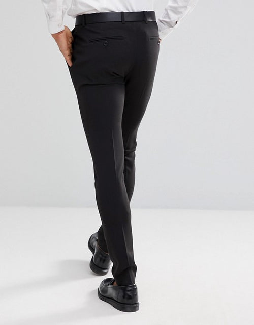 FOS DESIGN 2 pack super skinny trousers in black and navy SAVE