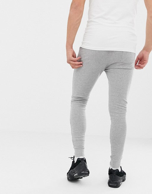 FOS DESIGN super skinny joggers in grey marl
