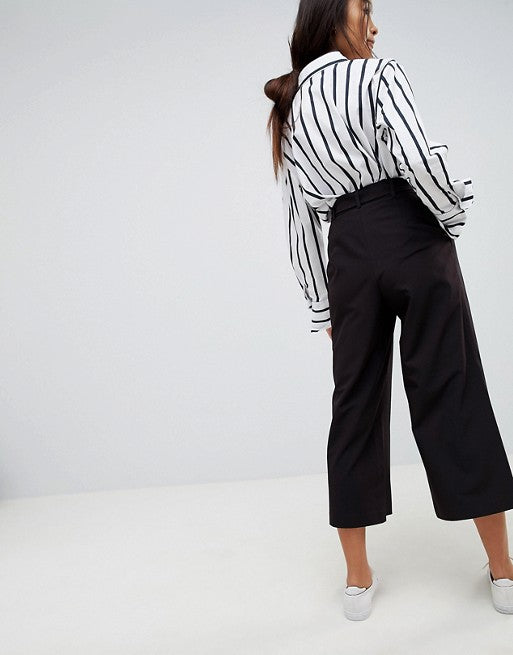 FOS DESIGN mix & match culotte with tie waist